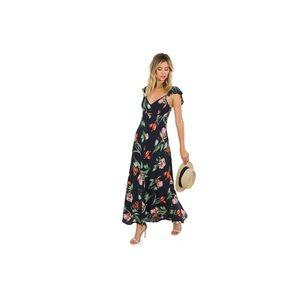ASTR Florentina floral print flutter sleeve dress